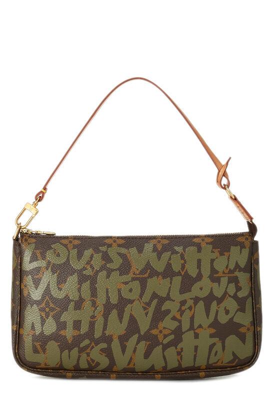 Stephen Sprouse x Louis Vuitton Green Monogram Graffiti Pochette Accessoires, , large image number 0