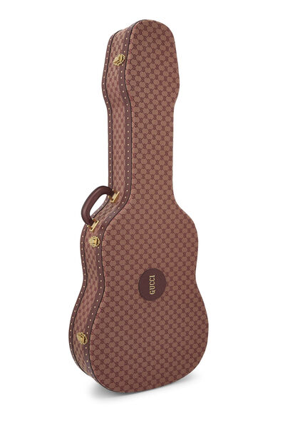 Burgundy GG Canvas Ophidia Guitar Case, , large