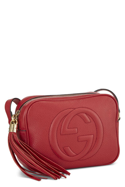 Red Grained Leather Soho Disco, , large