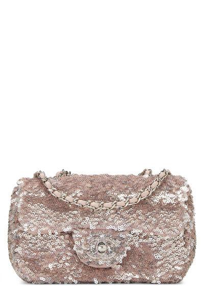 Pink Sequin Half Flap Extra Mini
