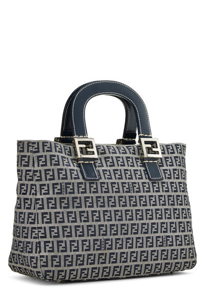 Navy Zucchino Canvas Handbag, , large