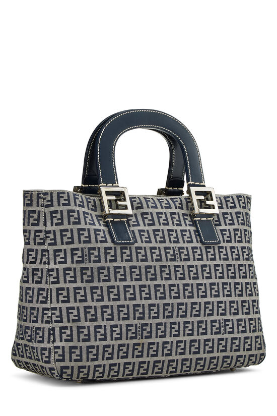 Navy Zucchino Canvas Handbag, , large image number 1