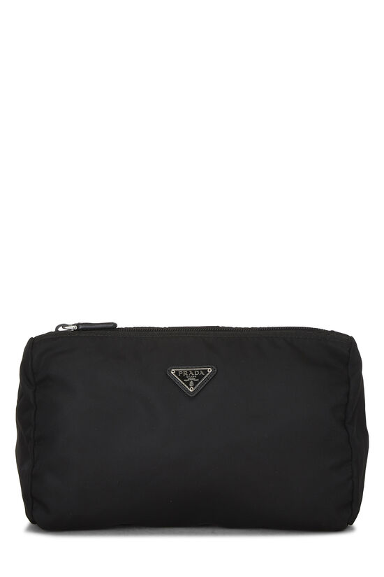 Black Nylon Zip Pouch, , large image number 0
