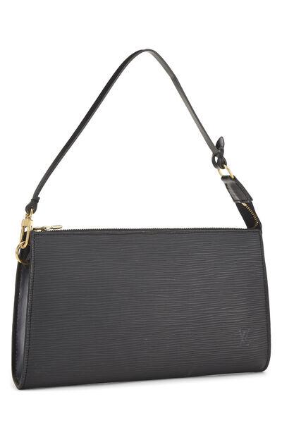 Black Epi Pochette Accessoires, , large
