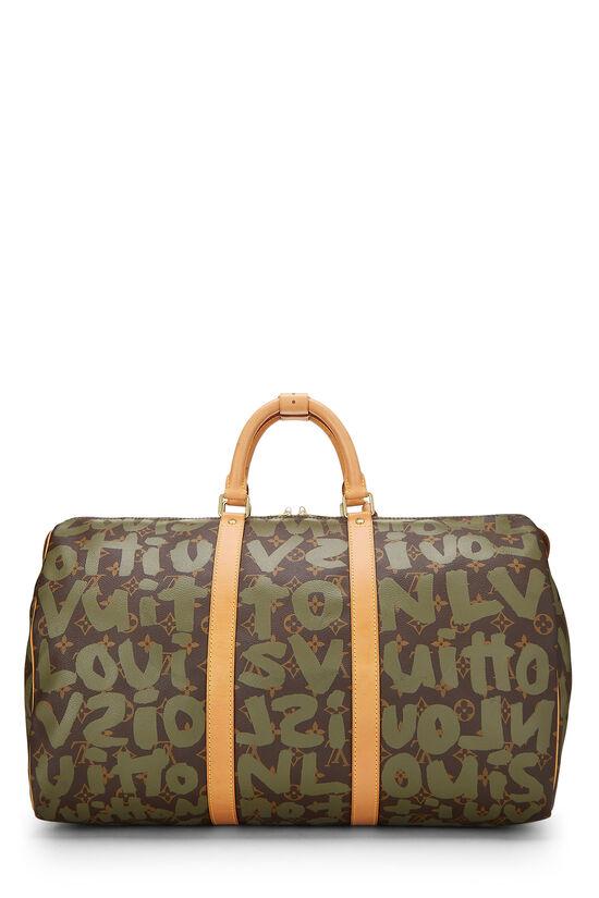 Stephen Sprouse x Louis Vuitton Green Monogram Graffiti Keepall 50, , large image number 3