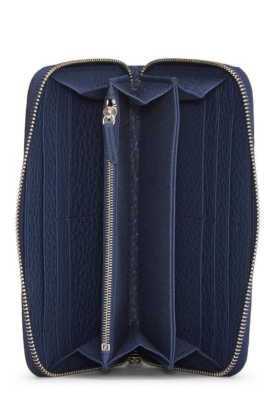 Navy Leather Forever Wallet, , large image number 3