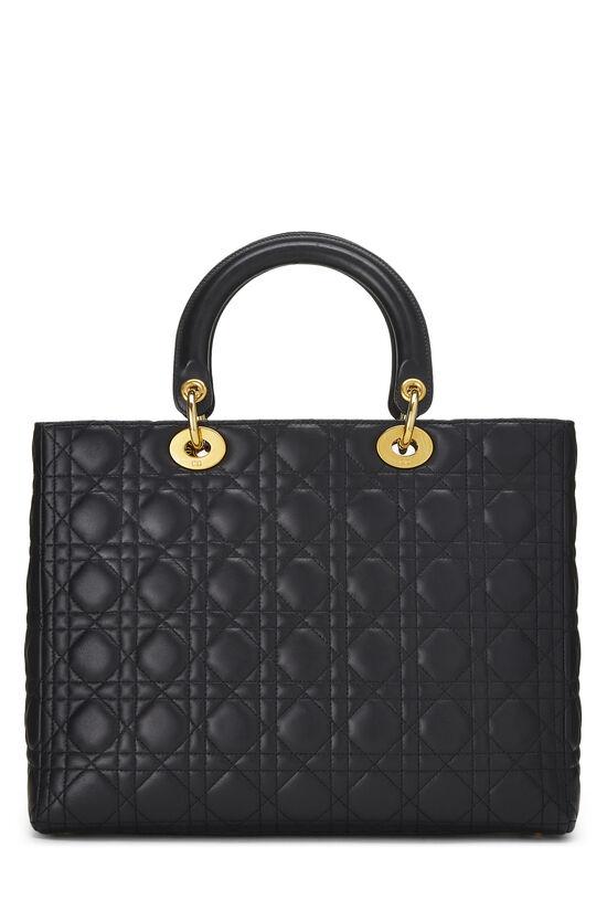 Black Cannage Lambskin Lady Dior Large, , large image number 4