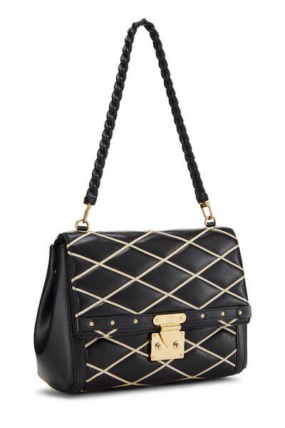Black Malletage Pochette Flap Bag, , large