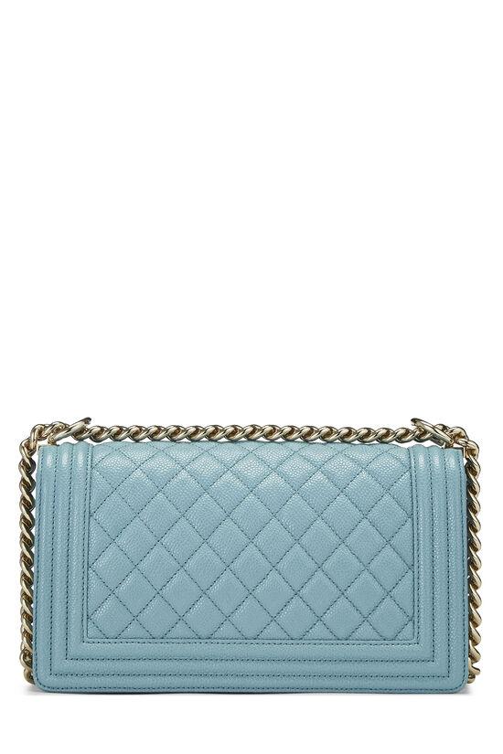 Blue Quilted Caviar Boy Bag Medium, , large image number 4