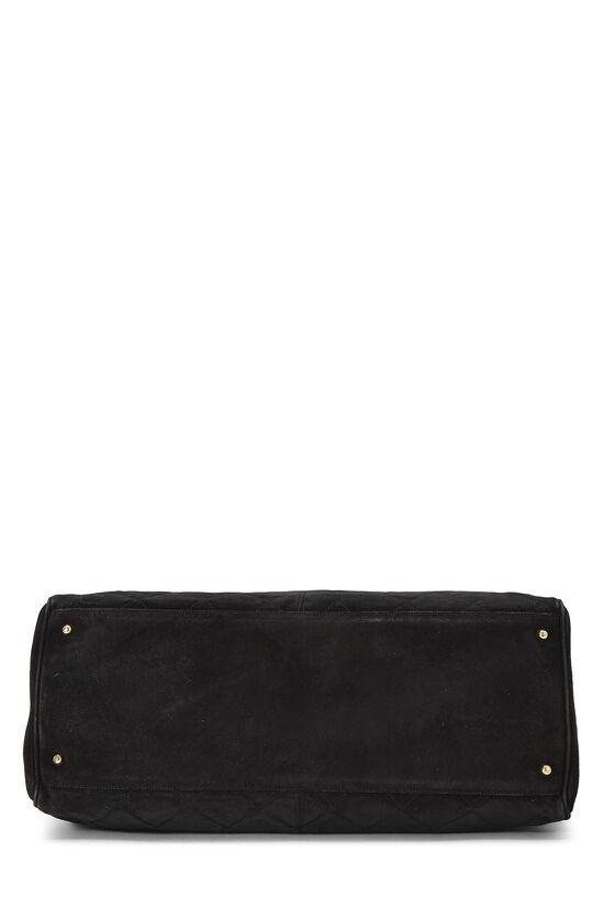 Black Quilted Suede Supermodel, , large image number 4