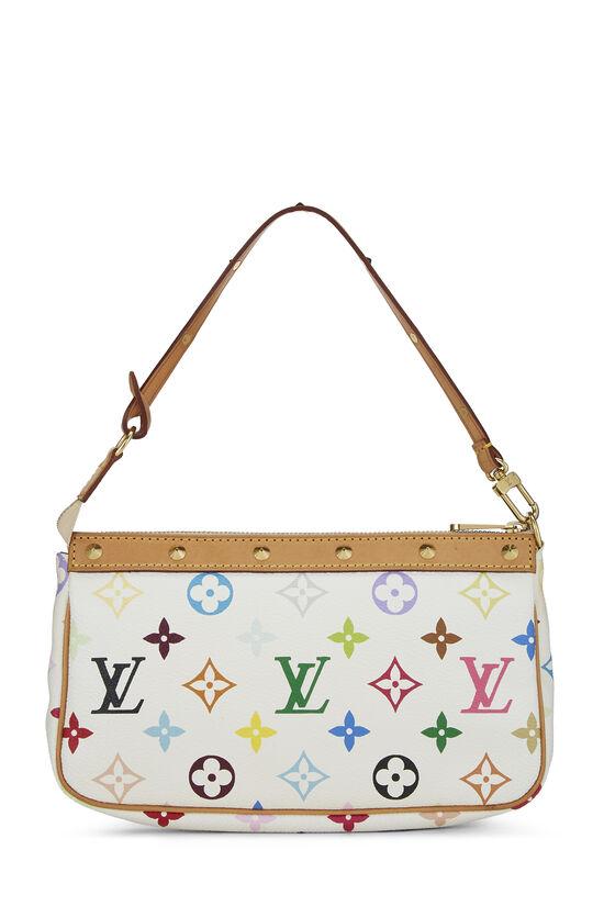 Takashi Murakami x Louis Vuitton White Monogram Multicolore Pochette Accessoires, , large image number 3