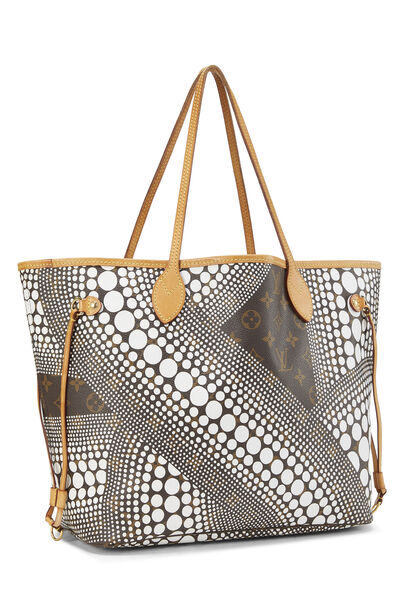 Yayoi Kusama x Louis Vuitton White Monogram Dots Infinity Neverfull MM , , large