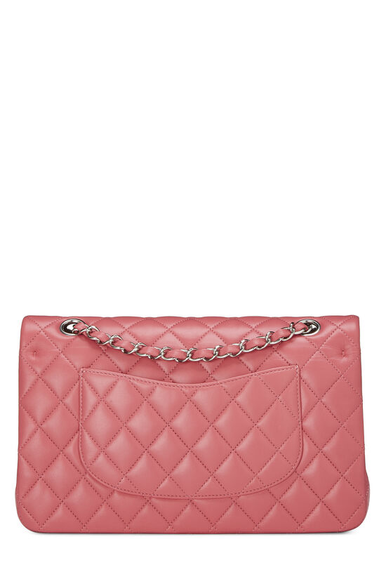 Pink Quilted Lambskin Classic Double Flap Medium, , large image number 3