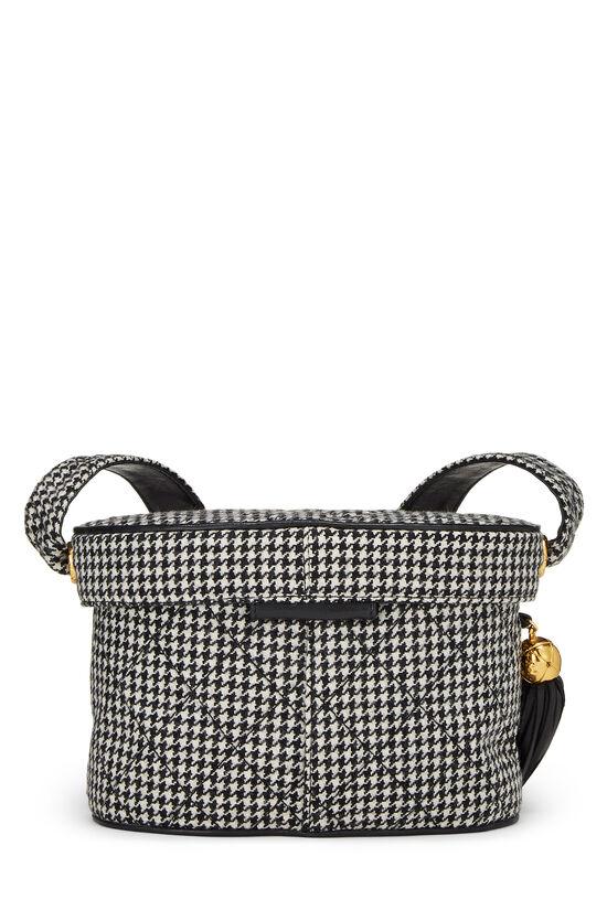 Black & White Wool Houndstooth Binocular Bag Small, , large image number 3