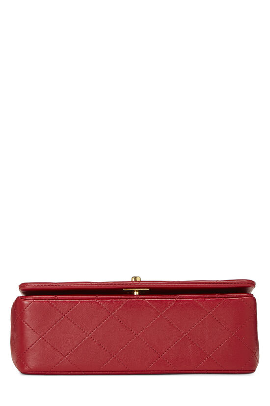 Red Quilted Lambskin Full Flap Mini, , large image number 4