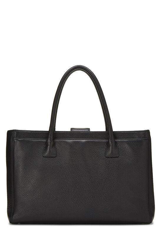 Black Calfskin Cerf Executive Shopper Tote, , large image number 3