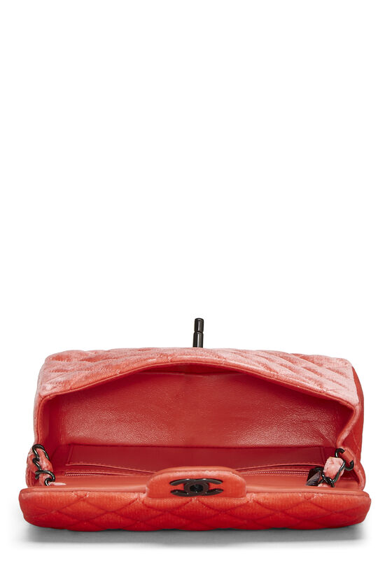 Coral Quilted Velvet Half Flap Small, , large image number 5