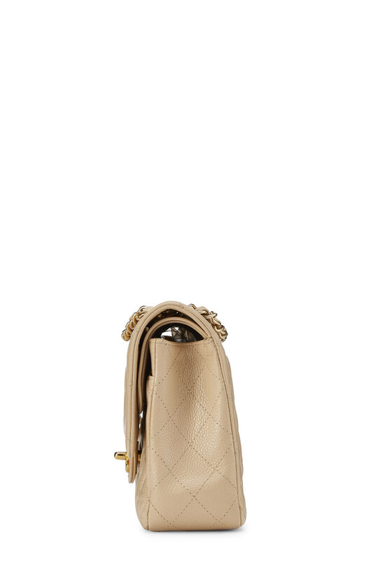Beige Quilted Caviar Classic Double Flap Medium, , large image number 2