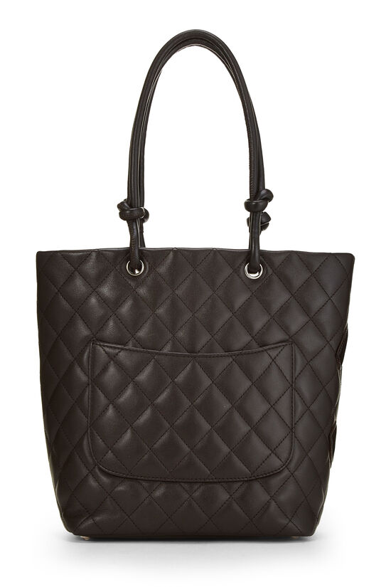 Brown Quilted Calfskin Cambon Tote Small, , large image number 3