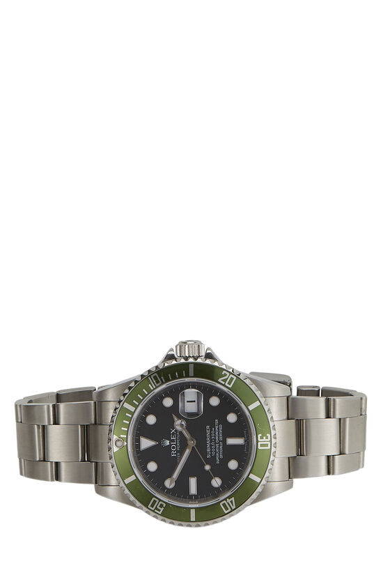 Stainless Steel Submariner-Date Kermit 16610LV 40mm, , large image number 1