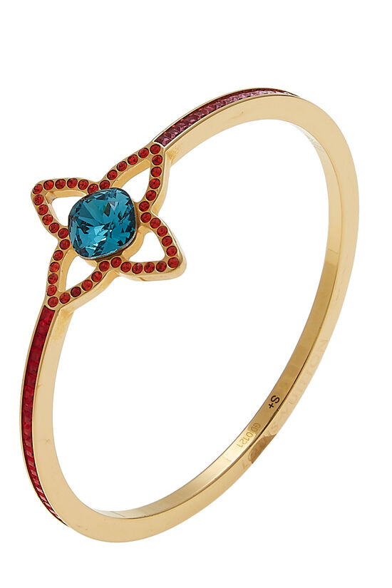 Multicolor Crystal Eye Candy Bangle, , large image number 0