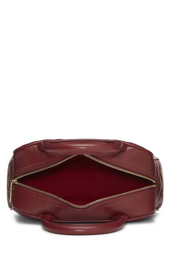 Burgundy Quilted Caviar Bowler Mini, , large image number 5
