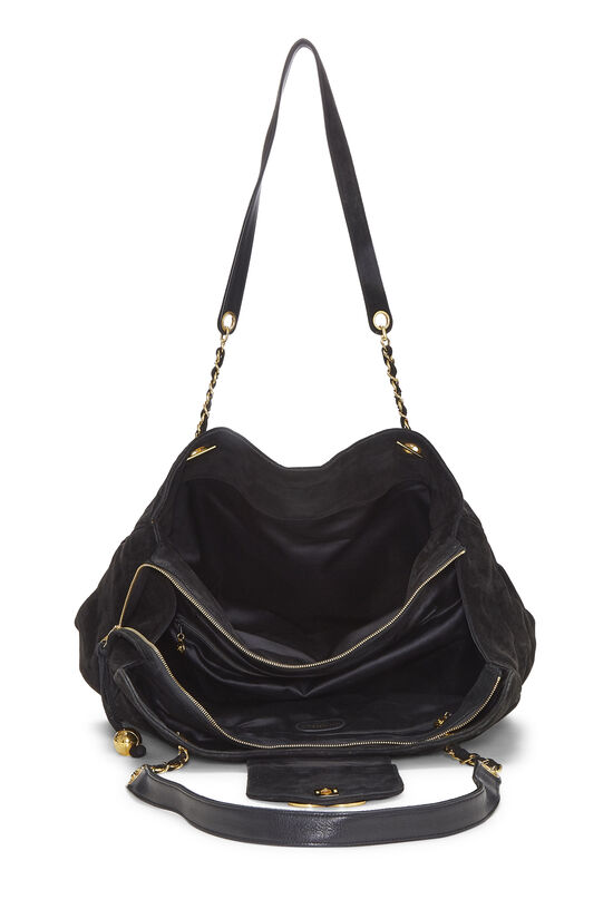 Black Quilted Suede Supermodel, , large image number 5