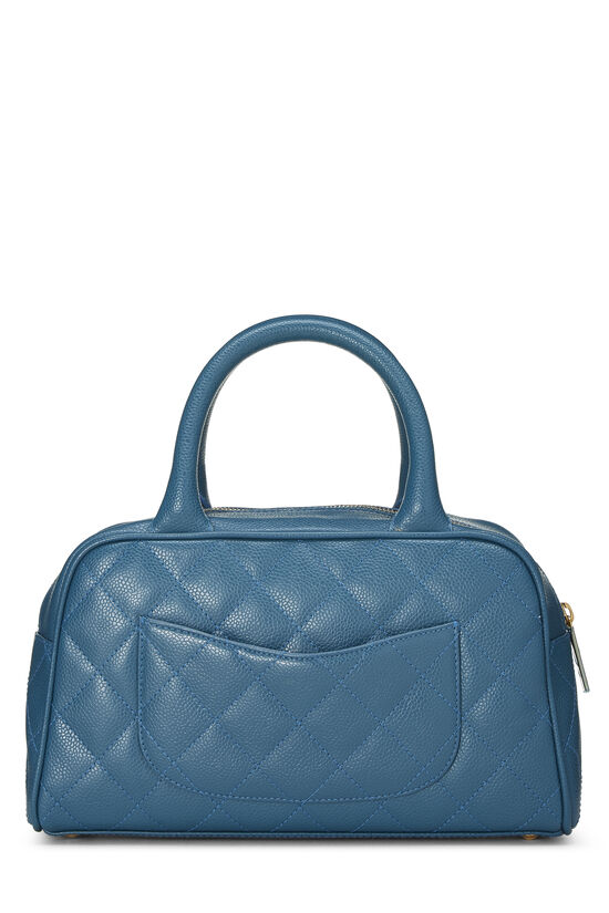 Blue Quilted Caviar Bowler Mini, , large image number 3
