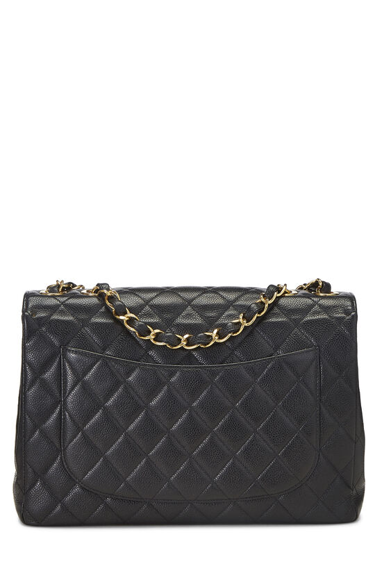 Black Quilted Caviar Half Flap Jumbo, , large image number 3