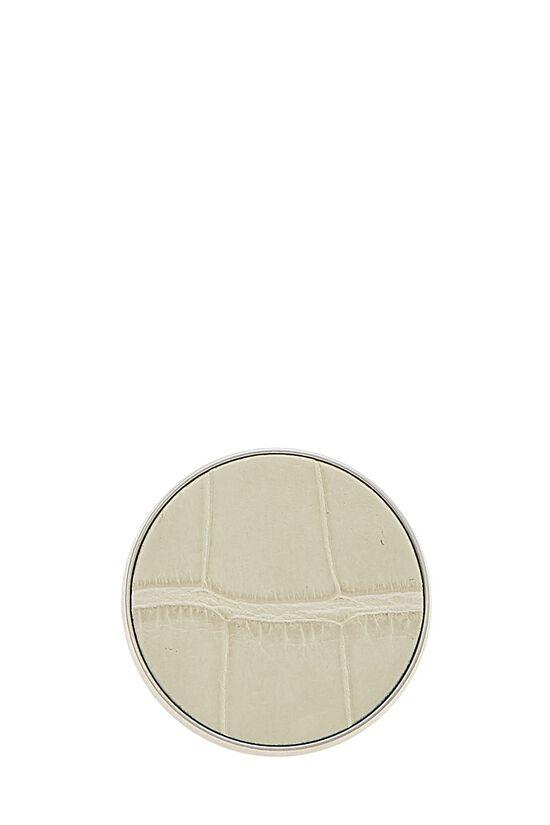 Silver & Grey Alligator Pin, , large image number 0