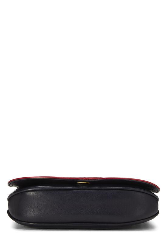 Navy & Red Lambskin 'CC' Shoulder Bag, , large image number 4