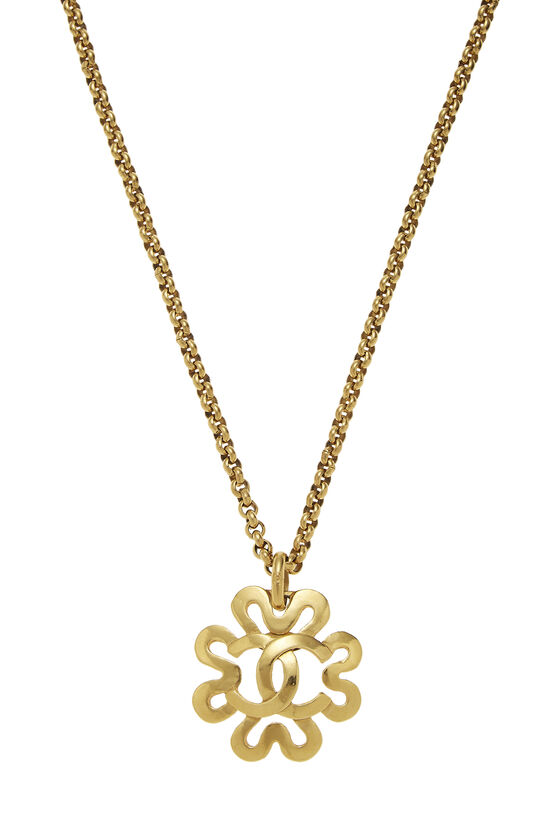 Gold 'CC' Border Necklace, , large image number 1