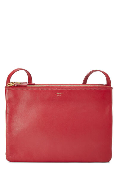 Red Leather Trio Large