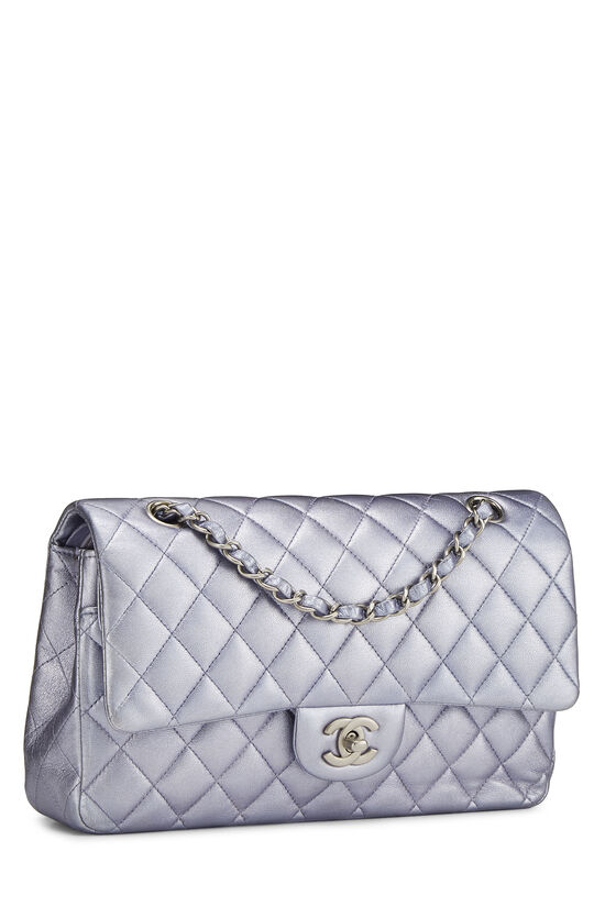 Metallic Purple Quilted Lambskin Classic Double Flap Medium, , large image number 1
