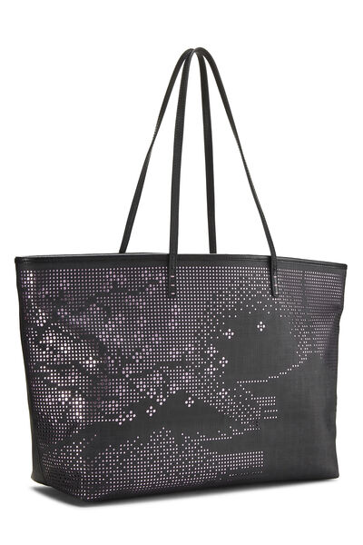 Black Zucca Coated Canvas Spalmati Roll Tote, , large