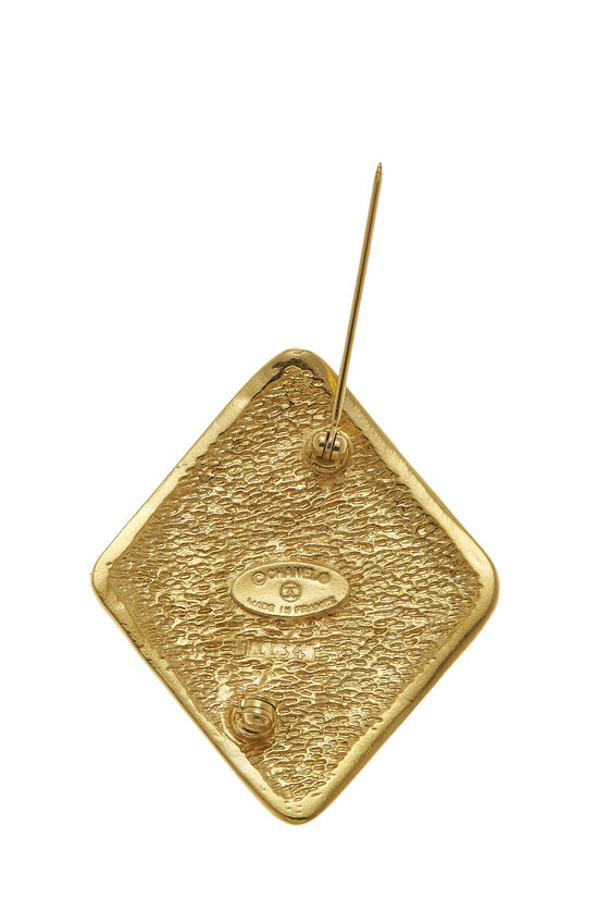 Gold 'CC' Stamped Pin, , large image number 2