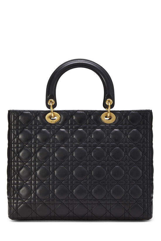 Black Cannage Quilted Lambskin Lady Dior Large, , large image number 3