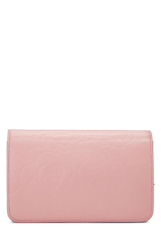 Pink Lambskin Camellia Wallet on Chain (WOC), , large image number 4