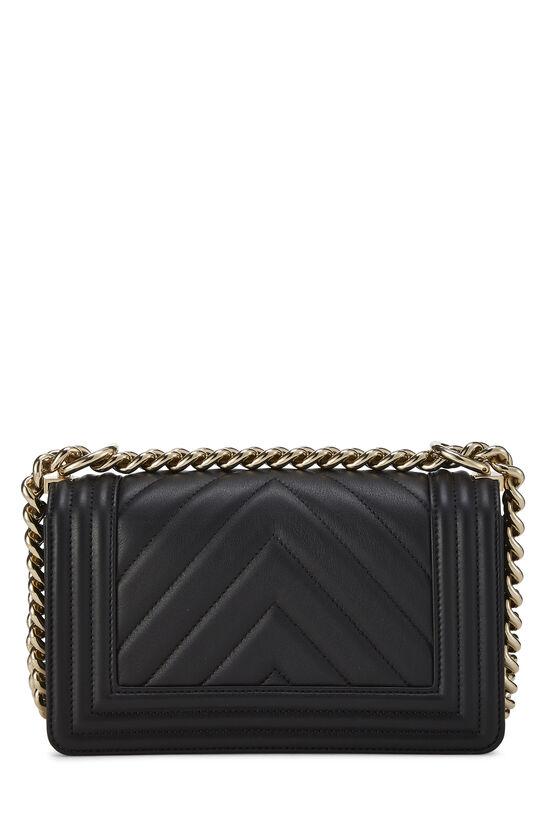 Black Chevron Lambskin Boy Bag Mini, , large image number 4