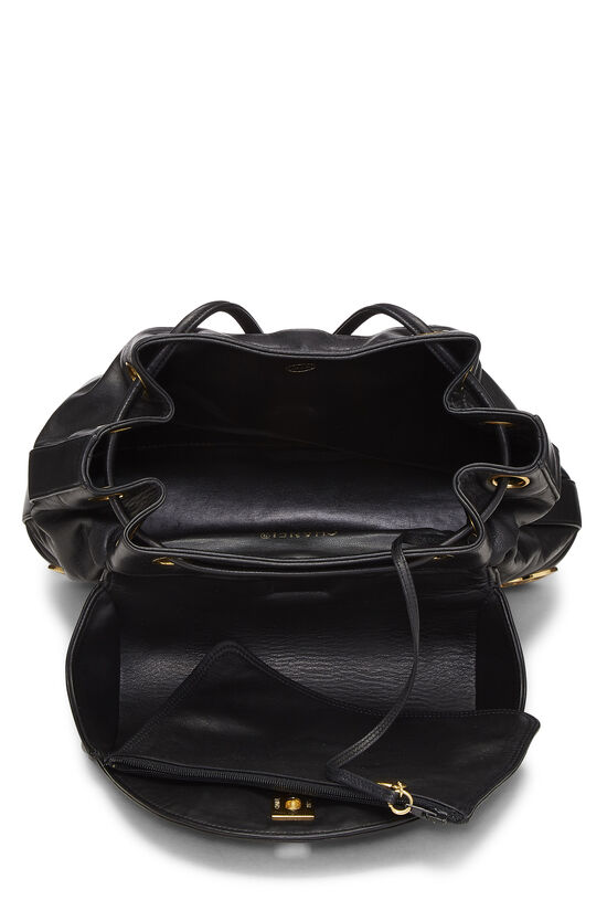 Black Lambskin 3 'CC' Backpack Large, , large image number 5