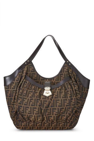 Brown Zucca Canvas Handbag Large