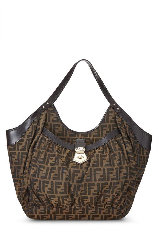 Brown Zucca Canvas Handbag Large, , large image number 0