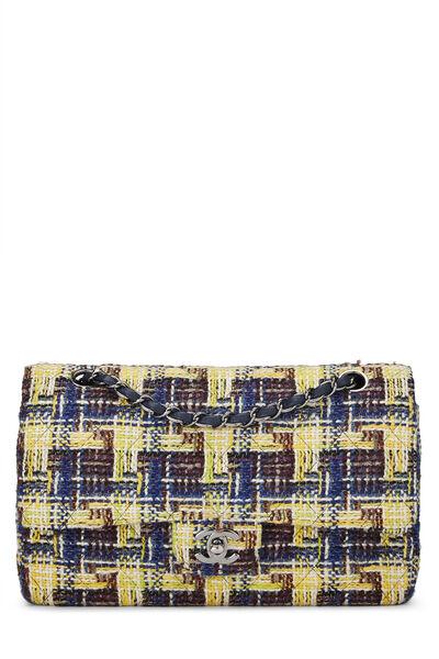 Multicolor Tweed Classic Double Flap Medium