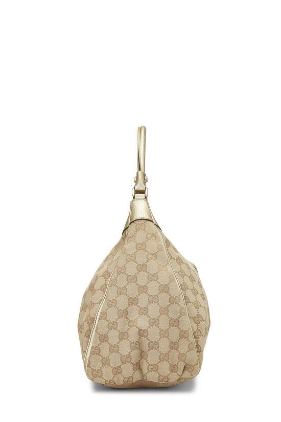 Gold Original GG Canvas Abbey Shoulder Bag Large, , large image number 2