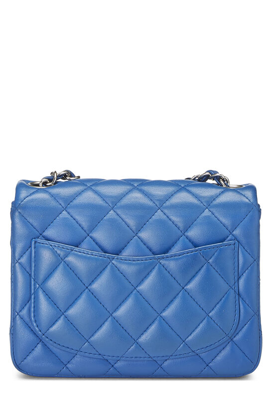Blue Quilted Lambskin Classic Square Flap Mini, , large image number 3