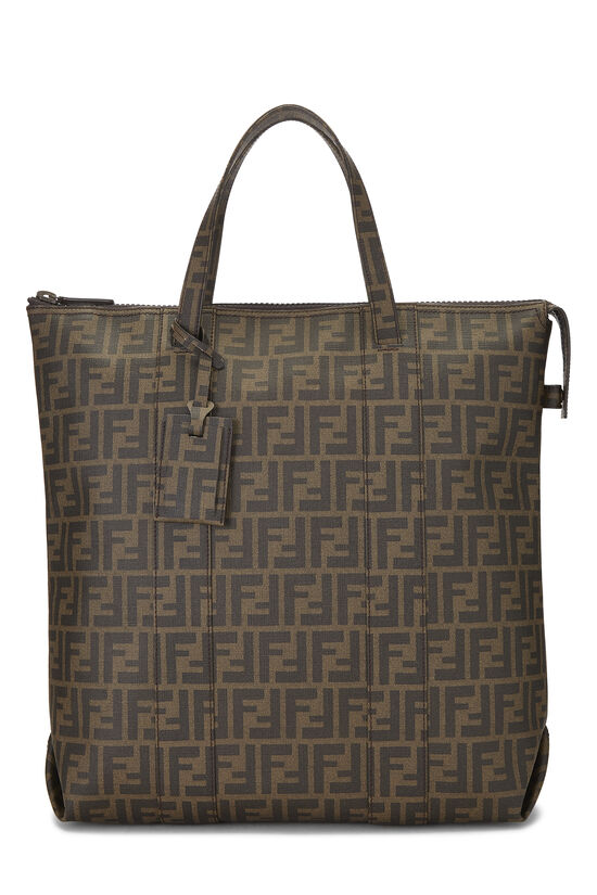 Brown Zucca Coated Canvas Vertical Tote Large, , large image number 0