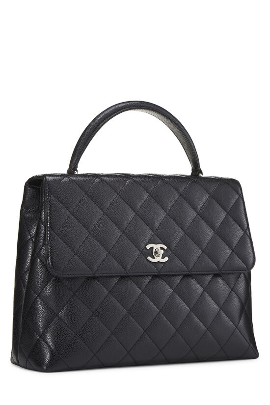 Black Quilted Caviar Kelly Jumbo, , large image number 1