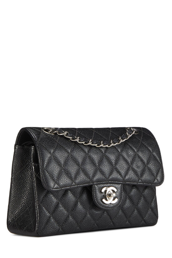 Black Quilted Caviar Classic Double Flap Small, , large image number 1