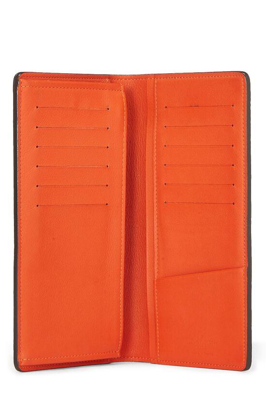 Orange Clemence Brazza Wallet, , large image number 3