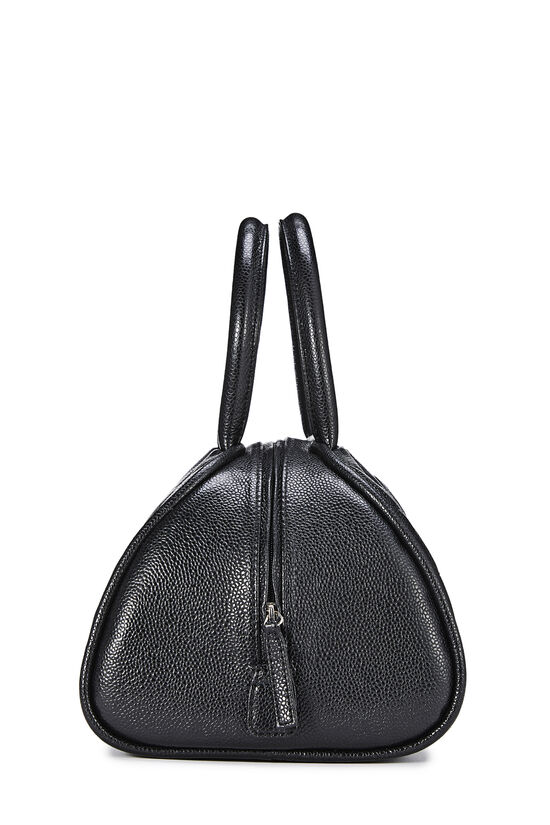 Black Quilted Caviar Bowler Small, , large image number 2